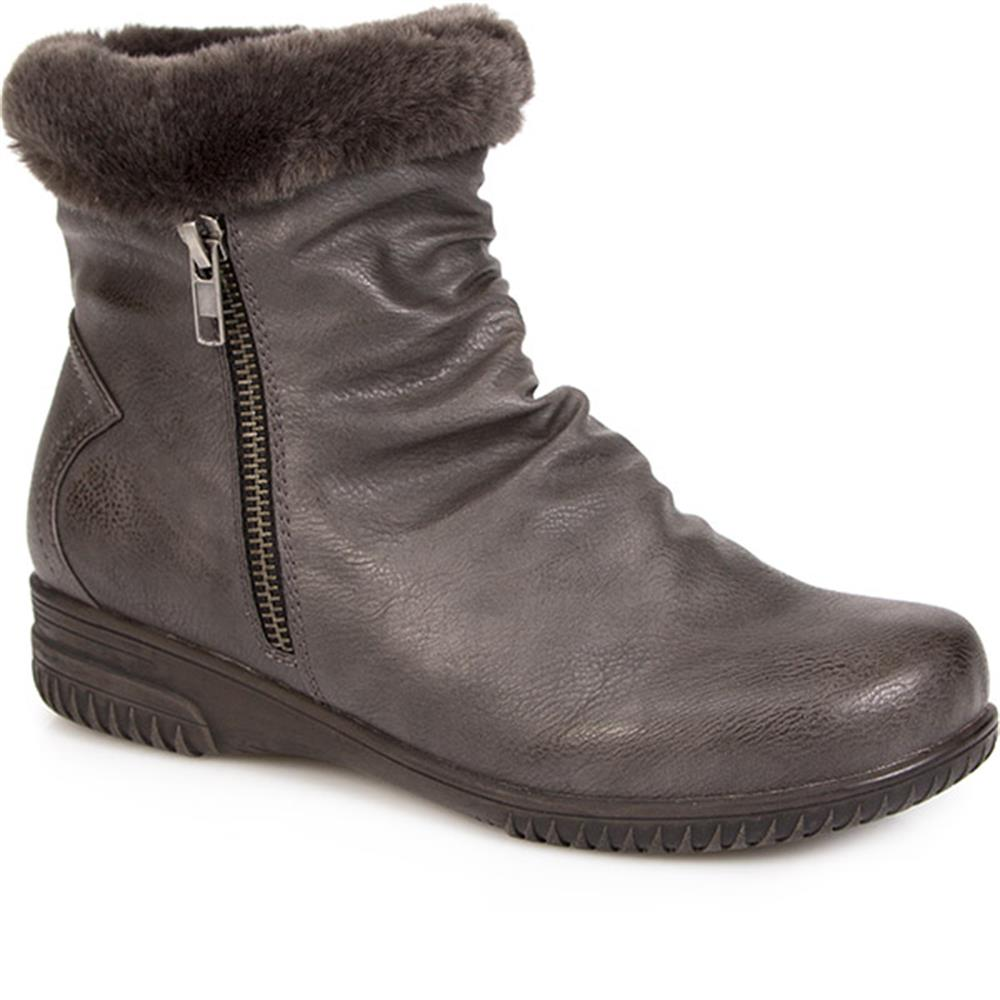 Pavers Womens Ankle Boots with Slouch