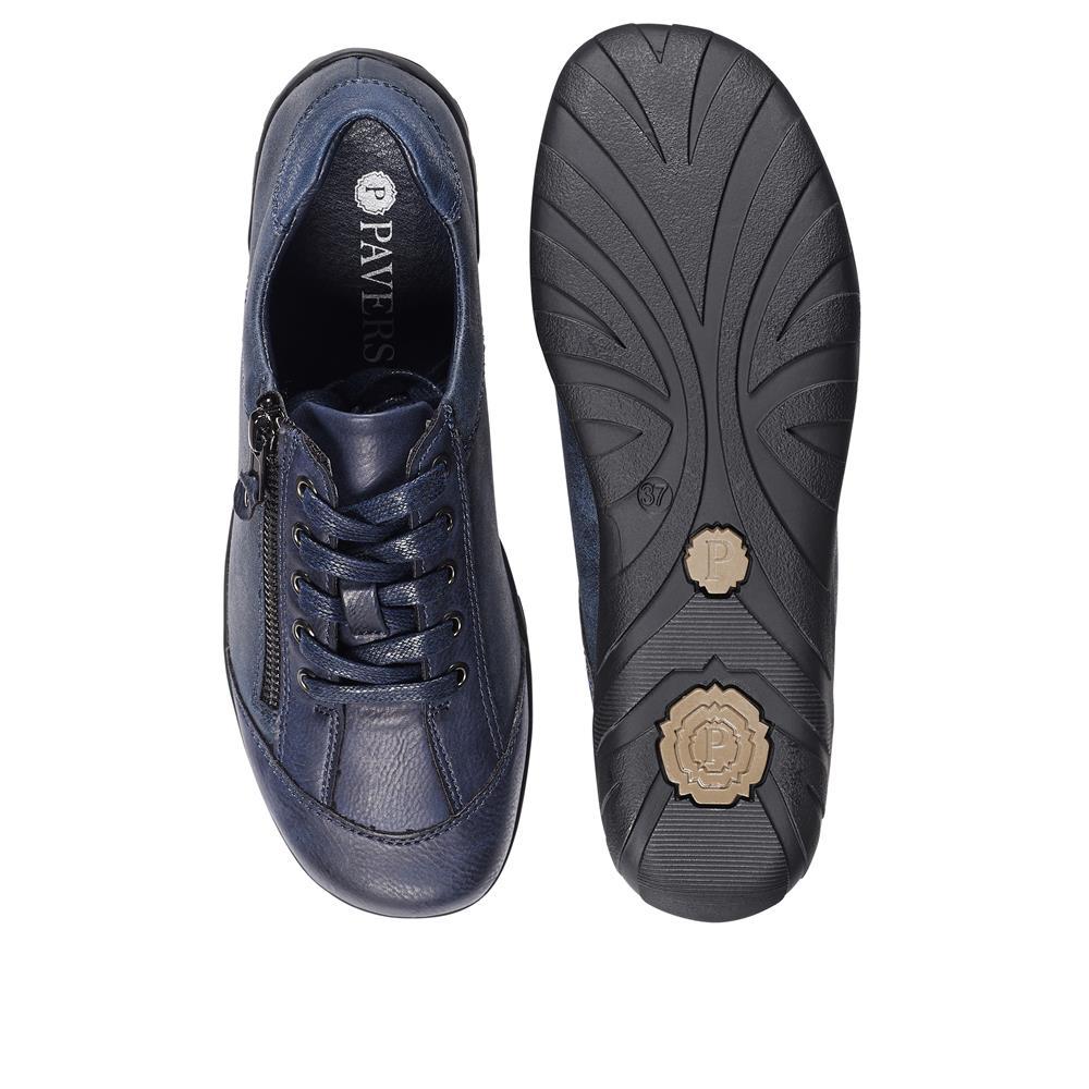 Pavers Damen Freizeit Gehschuhe Turnschuhe Sneaker Reißverschluss Griffige Sohle