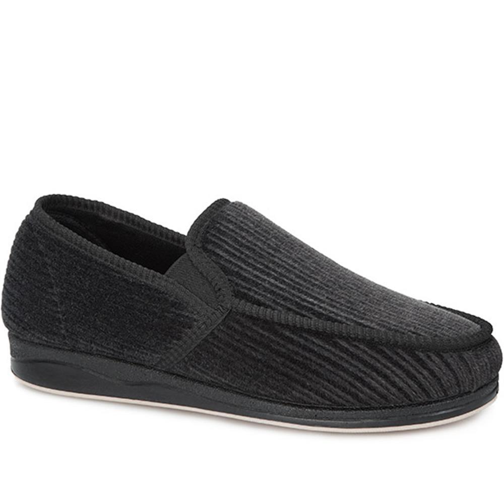 Pavers Mens Corduroy Full Slippers