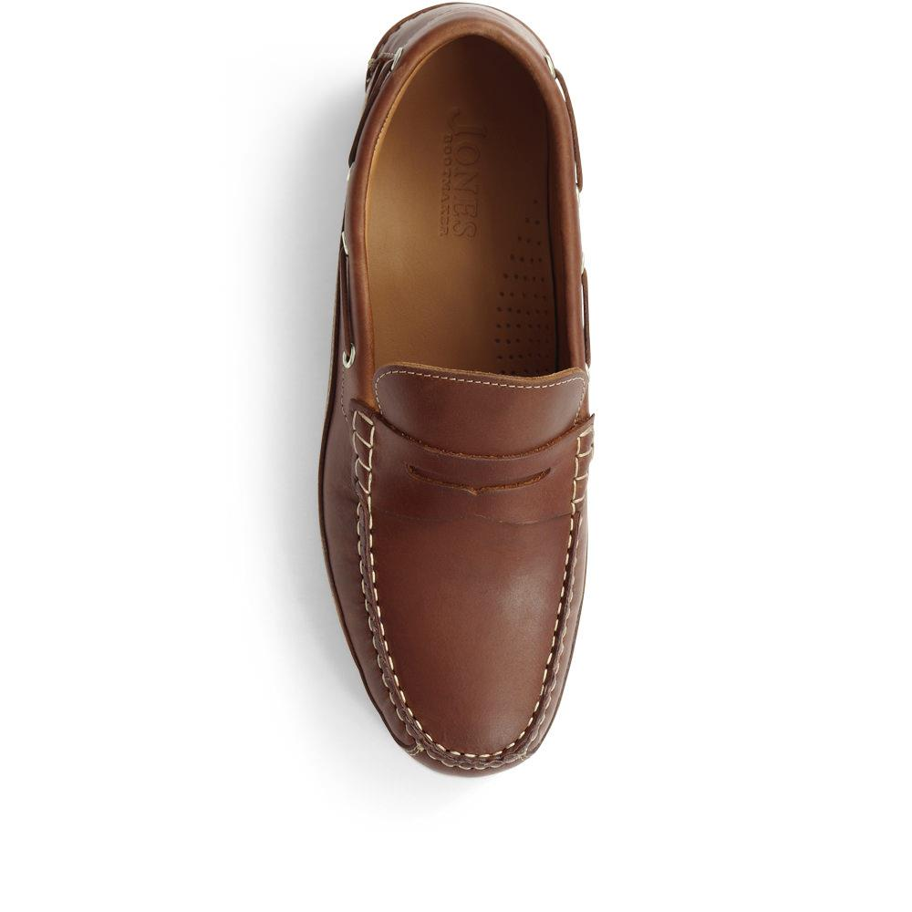 Jones Bootmaker Mens Leather Penny Loafers Exposed ...