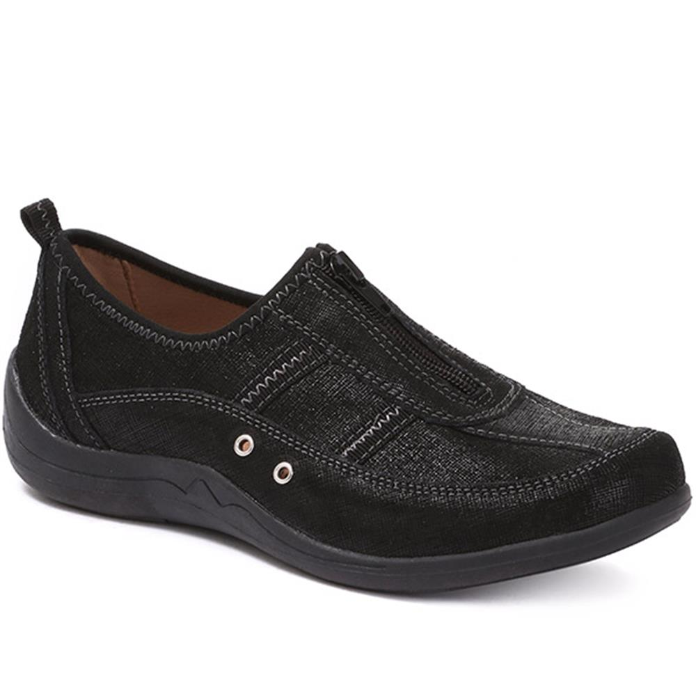 Pavers Womens Casual Leather Trainers